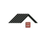 Eenvoudige architecturale bouw, huis abstract vectorsymbool, Royalty-vrije Stock Foto