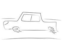 Eenvoudige Auto Royalty-vrije Stock Afbeelding