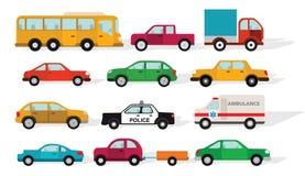 Eenvoudige auto's stock illustratie