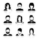 Eenvoudige avatar pictogrammen Royalty-vrije Stock Fotografie