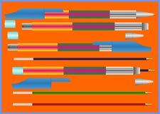 Eenvoudige ballpointpen. vector illustratie