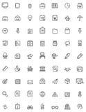 Eenvoudige bedrijfs en bureaupictogramreeks Stock Afbeelding