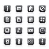Eenvoudige Bedrijfs en van het Bureau pictogrammen Royalty-vrije Stock Foto