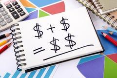 Eenvoudige besparingenformule Stock Foto