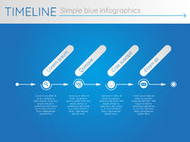 Eenvoudige blauwe chronologie 24, infographics Royalty-vrije Stock Afbeelding
