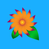 Eenvoudige bloem Royalty-vrije Stock Foto's