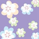 Eenvoudige bloemenachtergrond Stock Afbeeldingen