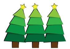 Eenvoudige bomen Royalty-vrije Stock Foto's