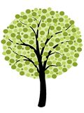 Eenvoudige boomvector Stock Afbeelding
