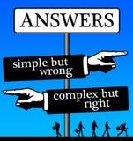 Eenvoudige complexe antwoorden royalty-vrije stock afbeelding