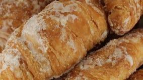 Eenvoudige Croissants stock video