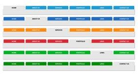 Eenvoudige de kopbalreeks van het Webmenu. Vector. Stock Foto