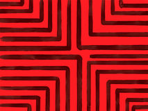 Eenvoudige donkerrode lijnen op rode achtergrond Royalty-vrije Stock Afbeeldingen