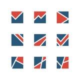 Eenvoudige embleemreeks Stock Foto