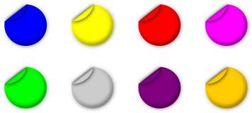 Eenvoudige etiketten Stock Afbeelding