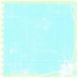 Eenvoudige Gegrenste Blauwe Versleten Gevouwen Grunge-Document Achtergrond Stock Fotografie