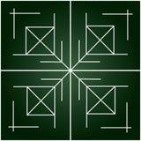 Eenvoudige geometrische tracery op gradiënt groene achtergrond Royalty-vrije Stock Foto