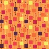 Eenvoudige geometrische veelkleurige levendige vierkanten en lijnen op lichte achtergrond Heldere abstracte vector naadloze patro vector illustratie