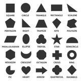 Eenvoudige geometrische vormen Royalty-vrije Stock Foto's