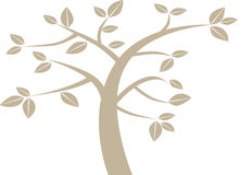 Eenvoudige grafische boom Stock Afbeelding