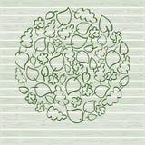 Eenvoudige groene vectorbladeren royalty-vrije illustratie