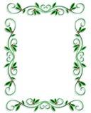 Eenvoudige het Frame van de Grens van Kerstmis vector illustratie