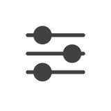 Eenvoudige het pictogramvector van montagesschuiven Stock Foto
