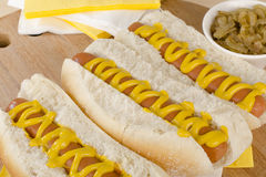 Eenvoudige Hotdogs Royalty-vrije Stock Afbeelding