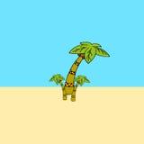 Eenvoudige illustratie van drie palmen Royalty-vrije Stock Foto