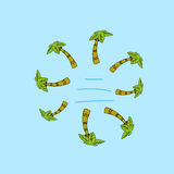 Eenvoudige illustratie van palmen Royalty-vrije Stock Fotografie
