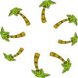 Eenvoudige illustratie van palmen Stock Afbeelding