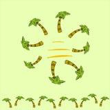 Eenvoudige illustratie van palmen Stock Fotografie