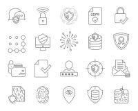 Eenvoudige Internet-geplaatste technologiepictogrammen De universele pictogrammen van Internet en SEO-in Web en mobiele UI, reeks stock illustratie