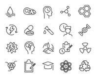 Eenvoudige inzameling van biotechnologie verwante lijnpictogrammen vector illustratie