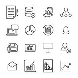 Eenvoudige inzameling van groepswerk verwante lijnpictogrammen Royalty-vrije Stock Afbeeldingen