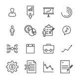 Eenvoudige inzameling van zaken verwante lijnpictogrammen Royalty-vrije Stock Afbeeldingen