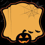 Eenvoudige kaart voor Halloween Vector Illustratie