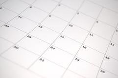 Eenvoudige kalender Stock Afbeeldingen