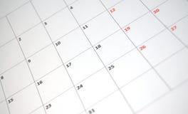 Eenvoudige kalender Stock Afbeelding