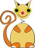 Eenvoudige kattenillustratie Stock Foto