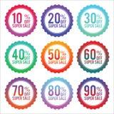 Eenvoudige kentekens van kortingsstickers Stock Fotografie