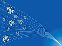 Eenvoudige Kerstmis blauwe achtergrond Royalty-vrije Stock Foto's