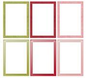 Eenvoudige Kerstmis Gekleurde Frames Royalty-vrije Stock Afbeelding