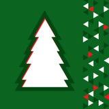 Eenvoudige Kerstmisboom Stock Foto