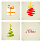 Eenvoudige Kerstmisdecoratie die van document wordt gemaakt Royalty-vrije Stock Fotografie