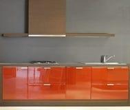 Eenvoudige keuken Stock Foto