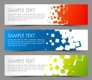 Eenvoudige kleurrijke horizontale banners Stock Afbeelding