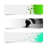 Eenvoudige kleurrijke horizontale banners eps 10 stock illustratie