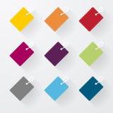 Eenvoudige kleurrijke tekens Stock Foto's
