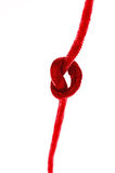 Eenvoudige rode knoop Stock Afbeeldingen